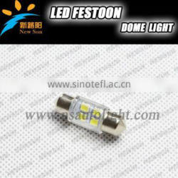 Hottest 6SMD 2835 LED car interior lights 12v 36mm led festoon dome lights for all vehicles