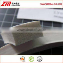 White silicone foam rectangle gasket, silicone sponge extrusions