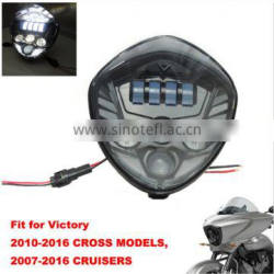 Bullet Style Headlight- Polaris Victory Motorcycle LED Headlights Kit Cross Country Magnum 8 Ball