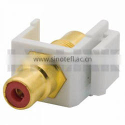 Keystone RCA AV Connector With Red Inner Color