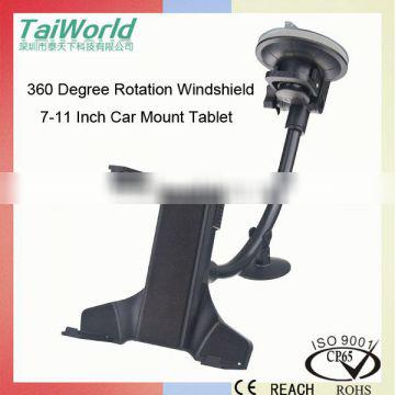 Most Safest 7.5-11 Inch Tablet PC Holder for Heavy Devices with Big Suction Cup and Small Adjustable Support Pad