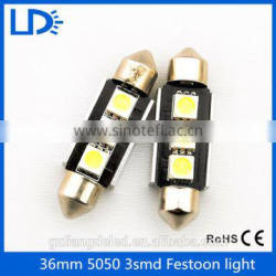 High quality auto car light 3leds canbus fesston led bulb lamp 5050