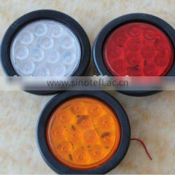 "12/24V led round stop lamp, 4"" truck turn signal lights"