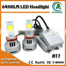 Aoxingda newest LED headlight H11 CREE 80W 3200LM