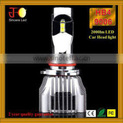Latest generation canbus car led headlight 2800lm 9006 hb4 led headlight bulb