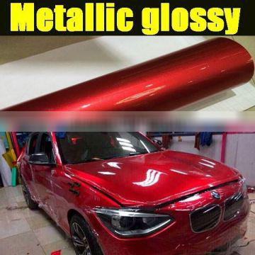 High Quality metallic glossy vinyl film with air bubble free