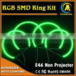E46 Multi-Color 5050 RGB Flash SMD LED ANGEL EYES HALO RINGS kit