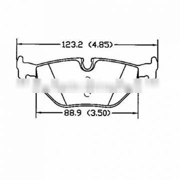 D763 OE 34 21 6 778 168 for ROVER BMW MG WIESMANN rear ceramic brake pad
