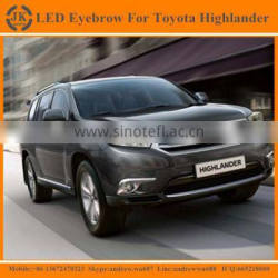 High Quality New Arrival LED DRL Strip for Toyota Highlander LED Eyebrow for Toyota Highlander Daytime Running light 2014