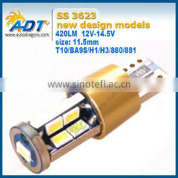 Hot selling BA9S 17SMD 3623 led car white light bulb