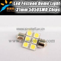 31mm Led festoon bulb, 31mm led festoon light,1.2W 5050 led dome light replacement old halogen light