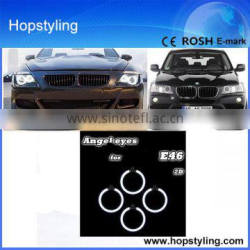 2015 best selling LED Auto lamp For E46 2 Door projector 2003~4*106mm CCFL Angel eyes Car Accessory