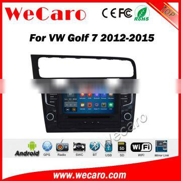 """Wecaro WC-VG8012 8"""" 2 din android 5.1.1 dvd for vw golf 7 2013 2014 2015 car multimedia system navigation dvd player"""