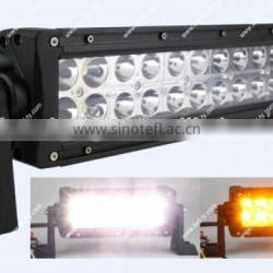 "High Quality Amber and White LED Light Bar 13.5"" LED Driving Light Bars 72w Car LED Light Bar"
