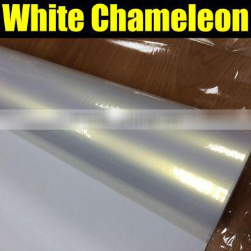 white pearl chameleon sticker for car wrapping with size:1.52*20m/roll