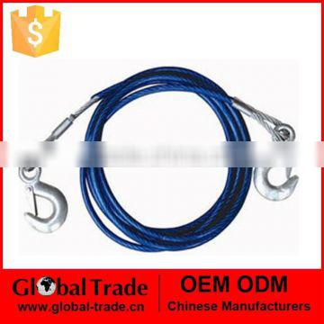 Steel Cable Tow Rope.Steel Tow Cable /Hooks Wire Towing Rope Car Truck. A1627.