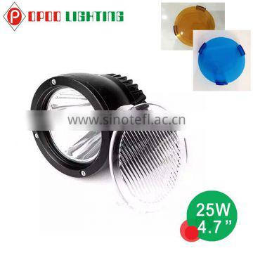 Super Bright 4.7'' 25w roof light car auto offroad led work light Quality Choice