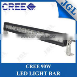 Slim single row 90w cree led light bar