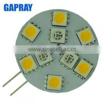 SMD 5050 10-30V DC Side Pin LED G4 bulb Dual Color Switchable
