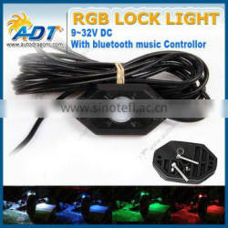 4X Pod Mini Bluetooth RGB LED Rock Lights 4x4WD offroad Jeep Truck Boat Vehicle