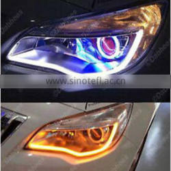 2*30CM Car Styling LED Soft Article DRL Bar Tears Flexible Strip Light Guide Bar Fog Lights LED