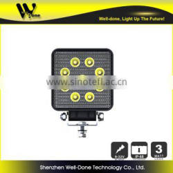 Metal waterproof 27w led working lamp for tractors, trucks