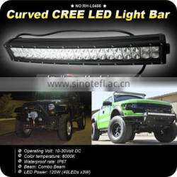 GoldRunhui RH-L0456 20inch Curved Led Light Bar 120W Flood Spot Combo for Truck 4WD Jeep
