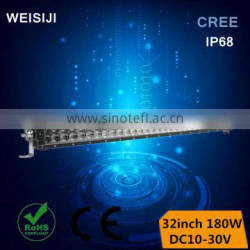 2016 New arrival high quality IP68 180W 32 inch led light bar for tow truck