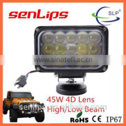Super bright 45W High Low Beam work light used for motorcycle truck car vehicle