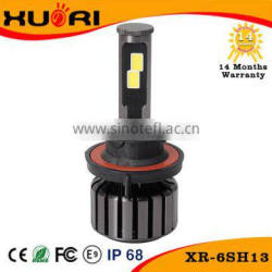 New Factory Price car h13 led headlight bulbs COB chip headlamp Customizable color temperature led headlight car