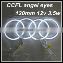 wholesale led headlight xenon lamp 4*120mm 12v white color ccfl angel eyes for bmw for audi cars halo rings kit