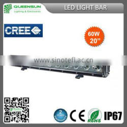 "20"" 60W LED Light Bar,LED Bar light for trucks, 4X4 Off road LED Light Bar SRLB60-C3"