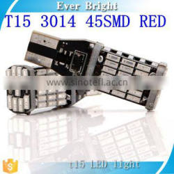 T15 3014 45 SMD red LED Light High Power Car Light Source No Error Auto Turn Singal Brake Stop Parking Light