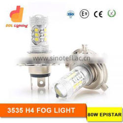 LED Auto Headlight 12V H4 Fog Lamp LED Fog Lights 80 Watt LED Auto replacement bulb