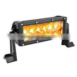 "Hot sale 7.5"" 12v amber & white color 36w led light bar with flashing"