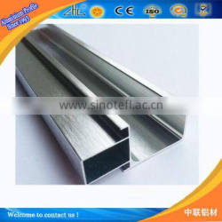 2016 best selling Anodize brush polished Modular aluminum profile for kitchen cabinet door frame and handles