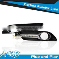 AKD Car Styling Sylphy DRL 2012-2014 Sentra Led DRL Sentra LED Daytime Running Light Good Quality LED Fog lamp