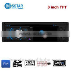 multi-function 1 din 3 inch car dvd vcd cd mp3 mp4 player radio receiver with TFT screen Bluetooth tv rear view