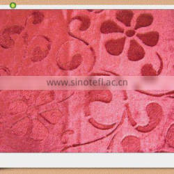 100%ployester brushed knitted velvet fabric