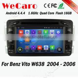 Wecaro WC-MB7507 Android 4.4.4 car dvd player HD for Benz Vito w638 dvd player android 2004 2005 2006 USB SD