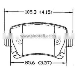 brake pad price D1108 1K0698451 for Audi VOLKSWAGEN Skoda rear bendix brake pad