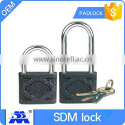 black color cast iron padlock