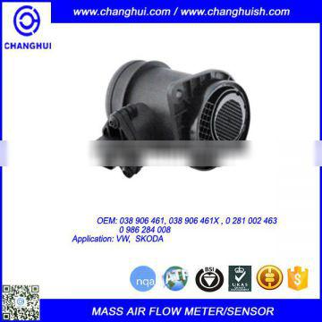 High Quality Car Mass Air Flow Meter/sensor 038 906 461/038 906 461X/ 0281 002 463/ 0 986 284 008
