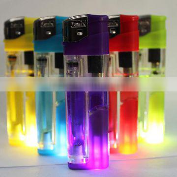 High quality Refillable electronic lighter with LED, LED electronic lighter