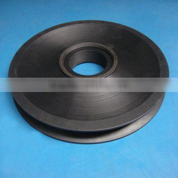 Customized material slide roller plastic mc nylon crane sheave pulley as your drawings