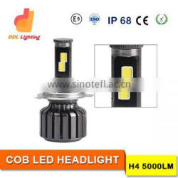 high power 60w 5000lm cob motorcycle h4 led headlight 4x4 offroad