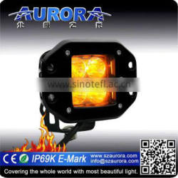 Low power consumption AURORA 2inch Amber led light bar