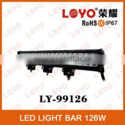 2014 Canton Fair Factory Wholesale Price!!! 126W Offroad Led Light Bar, Car Led Light Bar, Off Road Led Light Bar