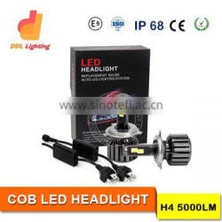Wholesale 12-24v 60W 5000LM H4 Car Led Headlight KIT auto headlight bulb for 4X4 Offroad