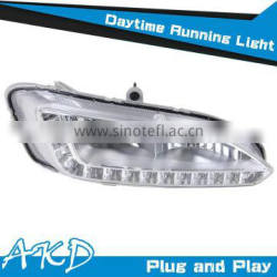AKD Car Styling Hyundai IX45 DRL 2013-2014 IX45 Led DRL Santafe LED Daytime Running Light Good Quality LED Fog lamp
